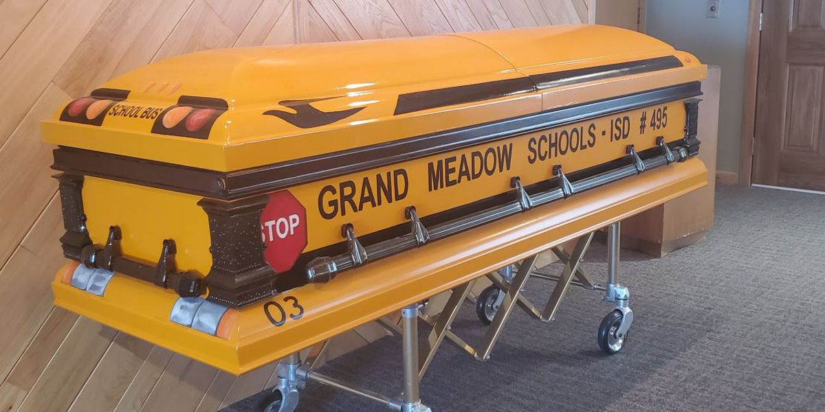 School bus driver laid to rest in custom yellow casket
