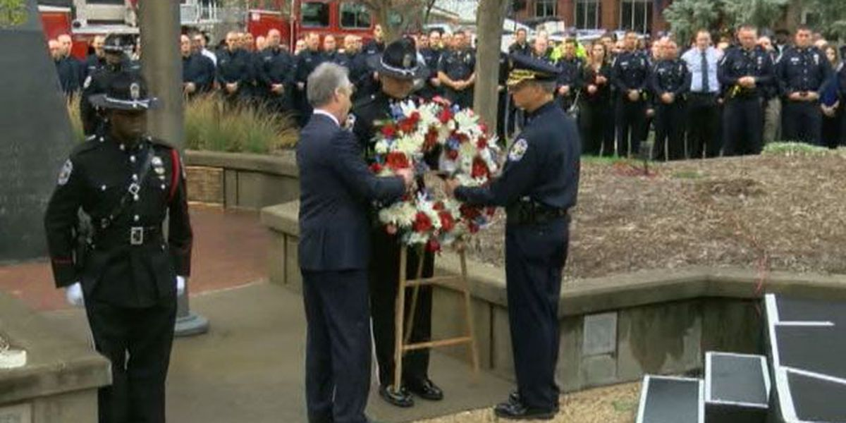 LMPD chief, mayor memorialize fallen officer: 'Nick died as he lived - a hero'