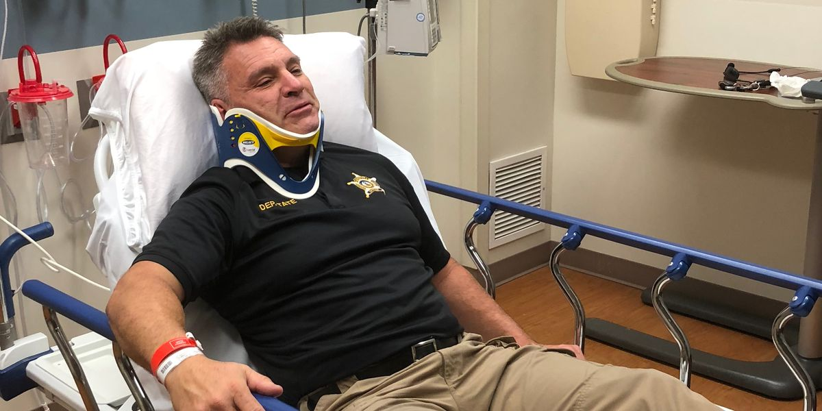 'Next thing I know I'm in the wood line': Crash lands deputy in hospital 45 days from retirement