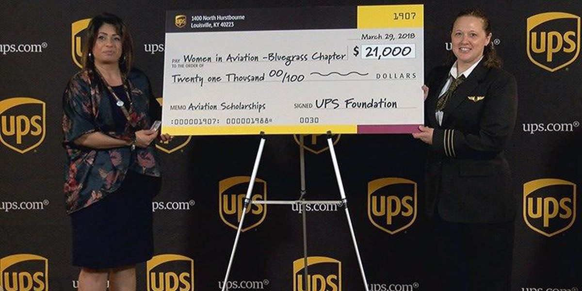 UPS gifts $21,000 for 'Women in Aviation'