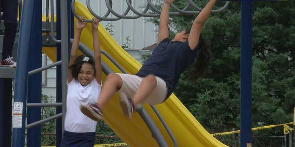 Gilmore Lane Elementary School gets first playground ever