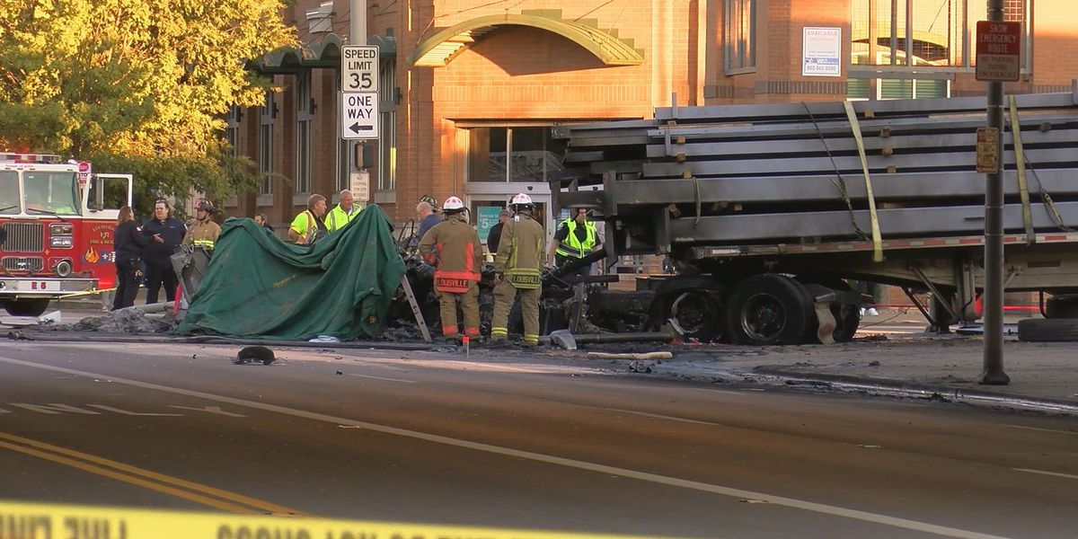 LMPD: Only victim in deadly crash, fire was driver of semi