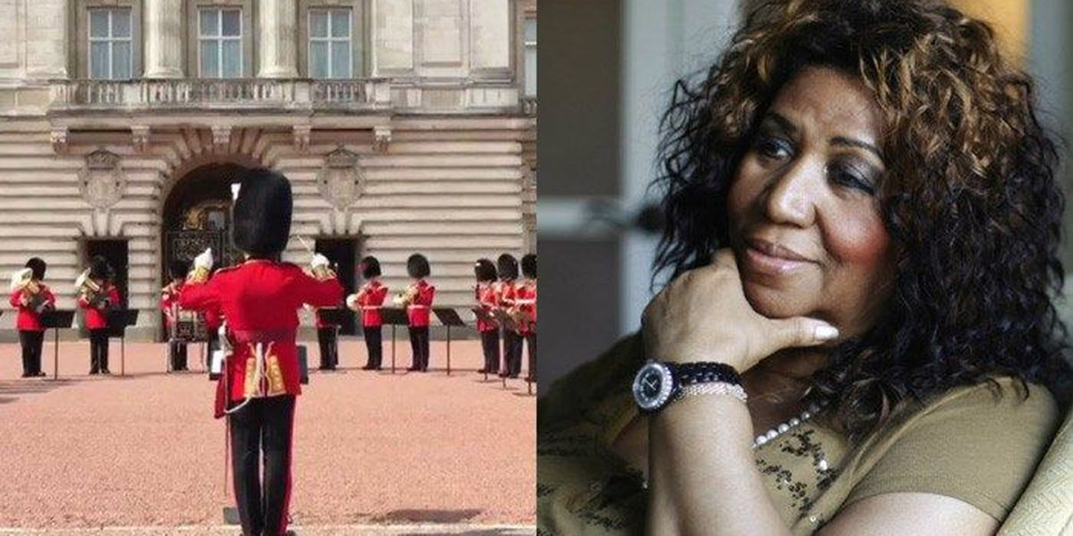Buckingham Palace honors Aretha with 'Respect' at changing of guard