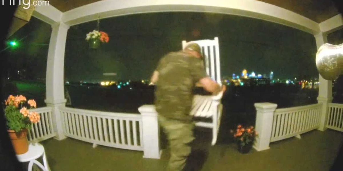 Man caught on camera casing out Covington homes, stealing porch furniture
