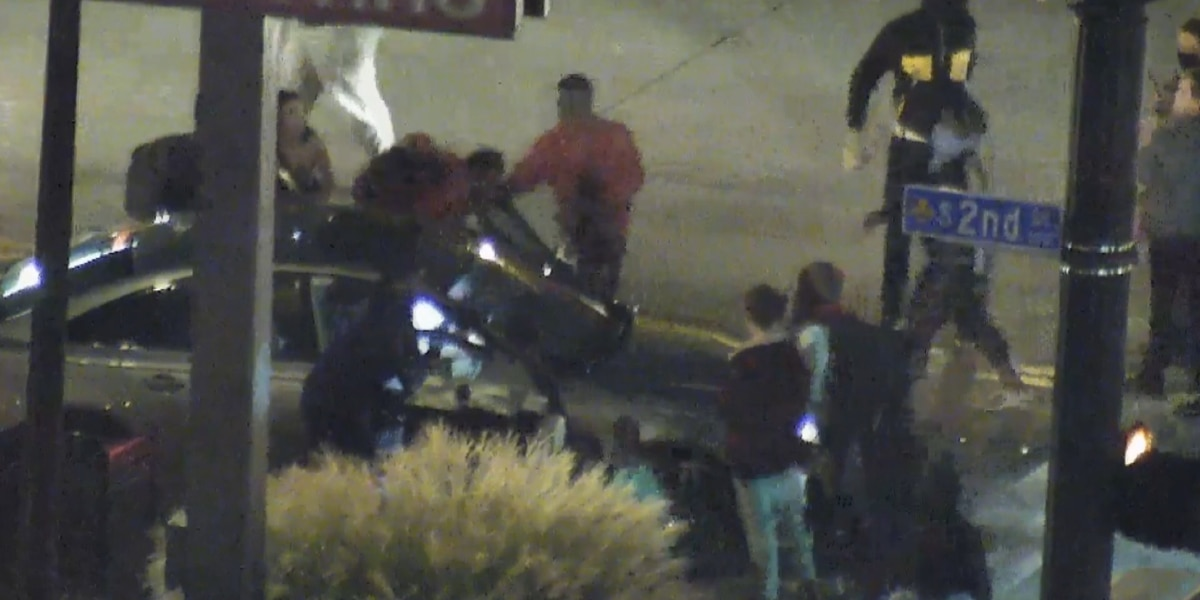 Protesters charged after assaulting driver downtown Monday night