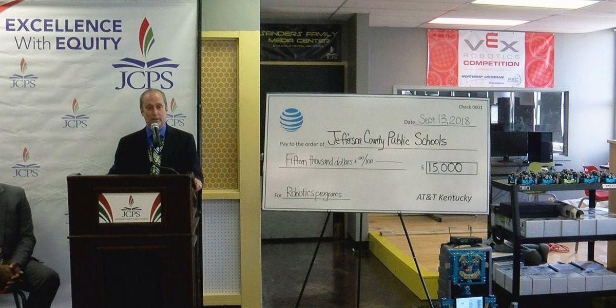 AT&T gives $15k for robotics programs at 12 JCPS schools