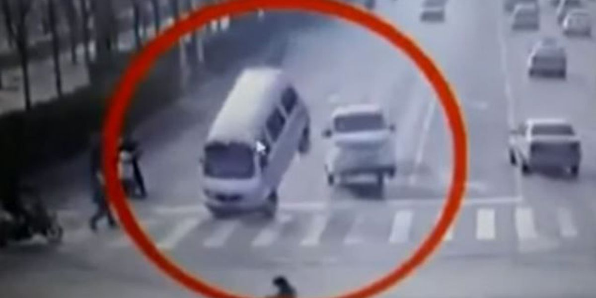 VIDEO: Vehicles mysteriously levitate off street