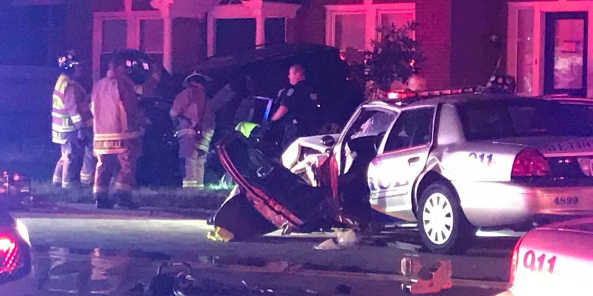 LMPD officer trapped, cut out of car after crash on Bardstown Road