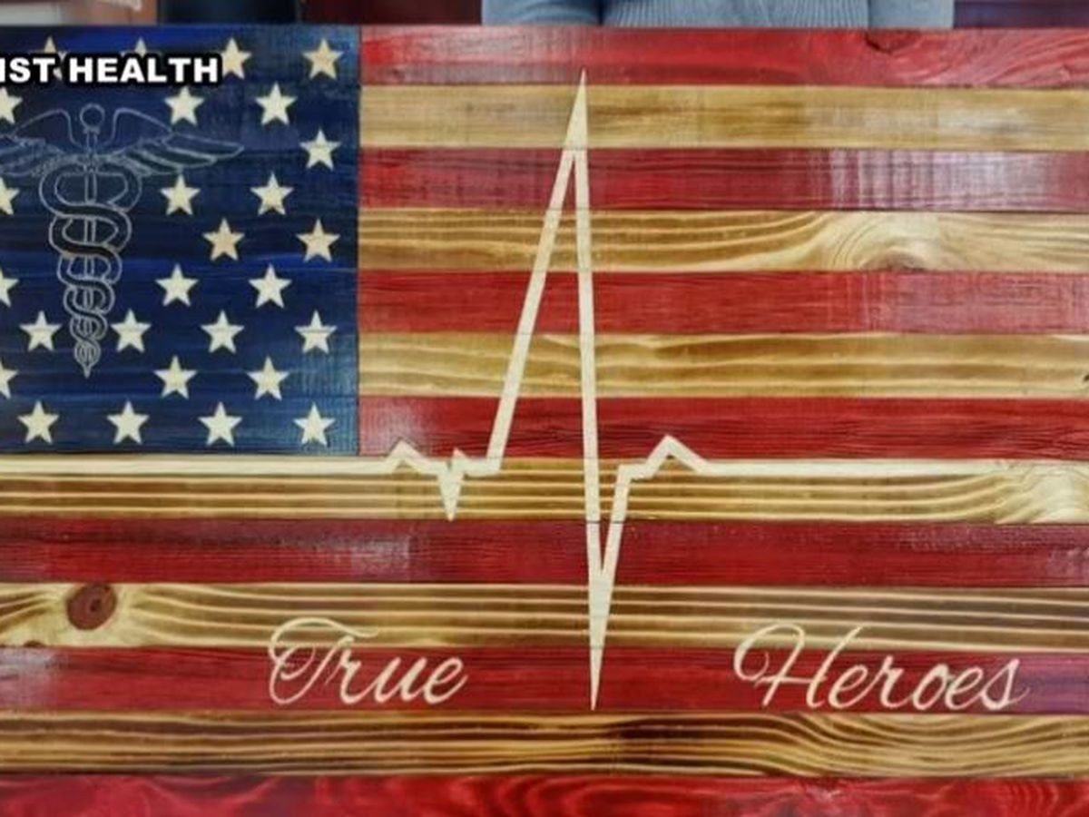 Unique flag dedicated to healthcare heroes