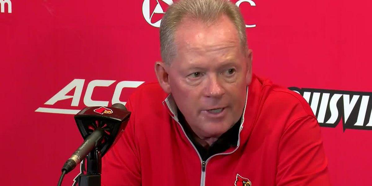 Petrino says UofL loss at UVA 'hard to watch'