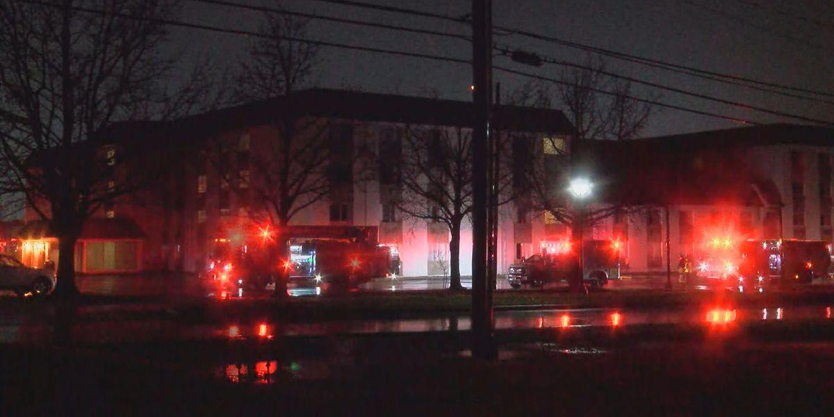 Hotel catches fire in Louisville