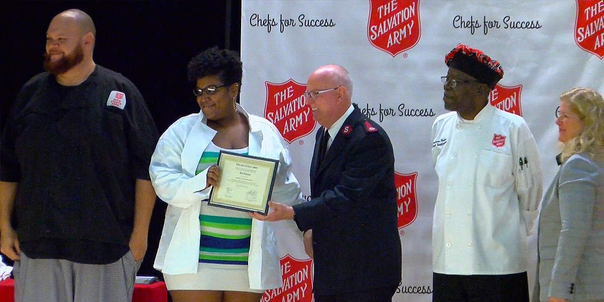12 graduate Salvation Army culinary program
