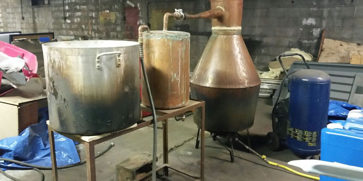 Large moonshine operation busted in Louisville