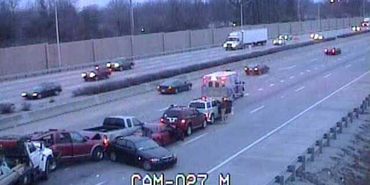 Multi-vehicle crash ties up traffic on I-64 west at I-264