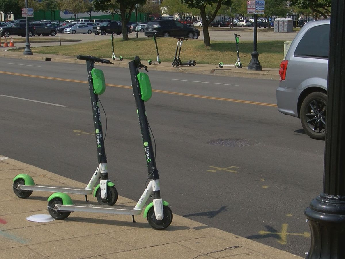 Several electric scooters vandalized and removed