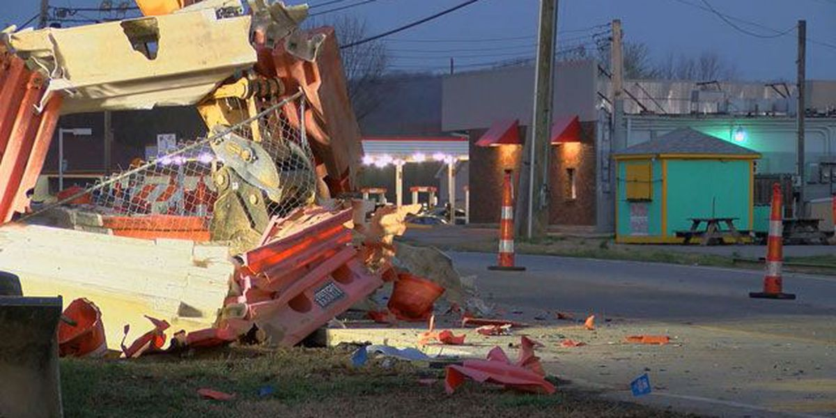 Car crashes into construction site, building in PRP
