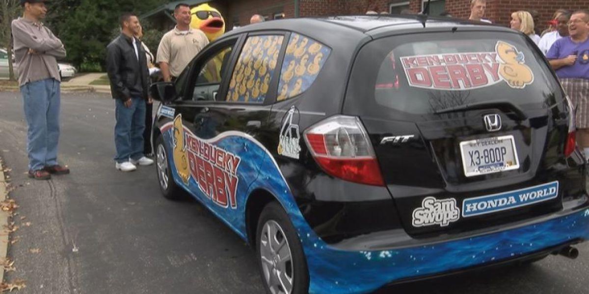 Kenducky Derby winner picks up new car