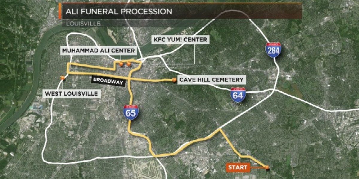 Road closures, parking restrictions for today's Ali memorial