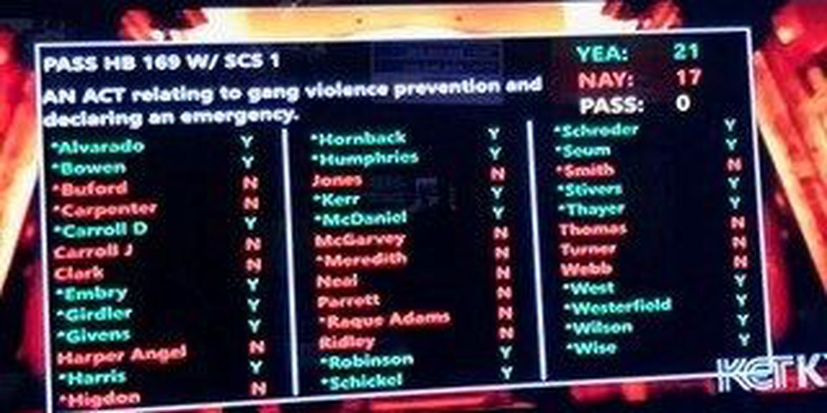 KY Senate passes controversial 'gang bill'