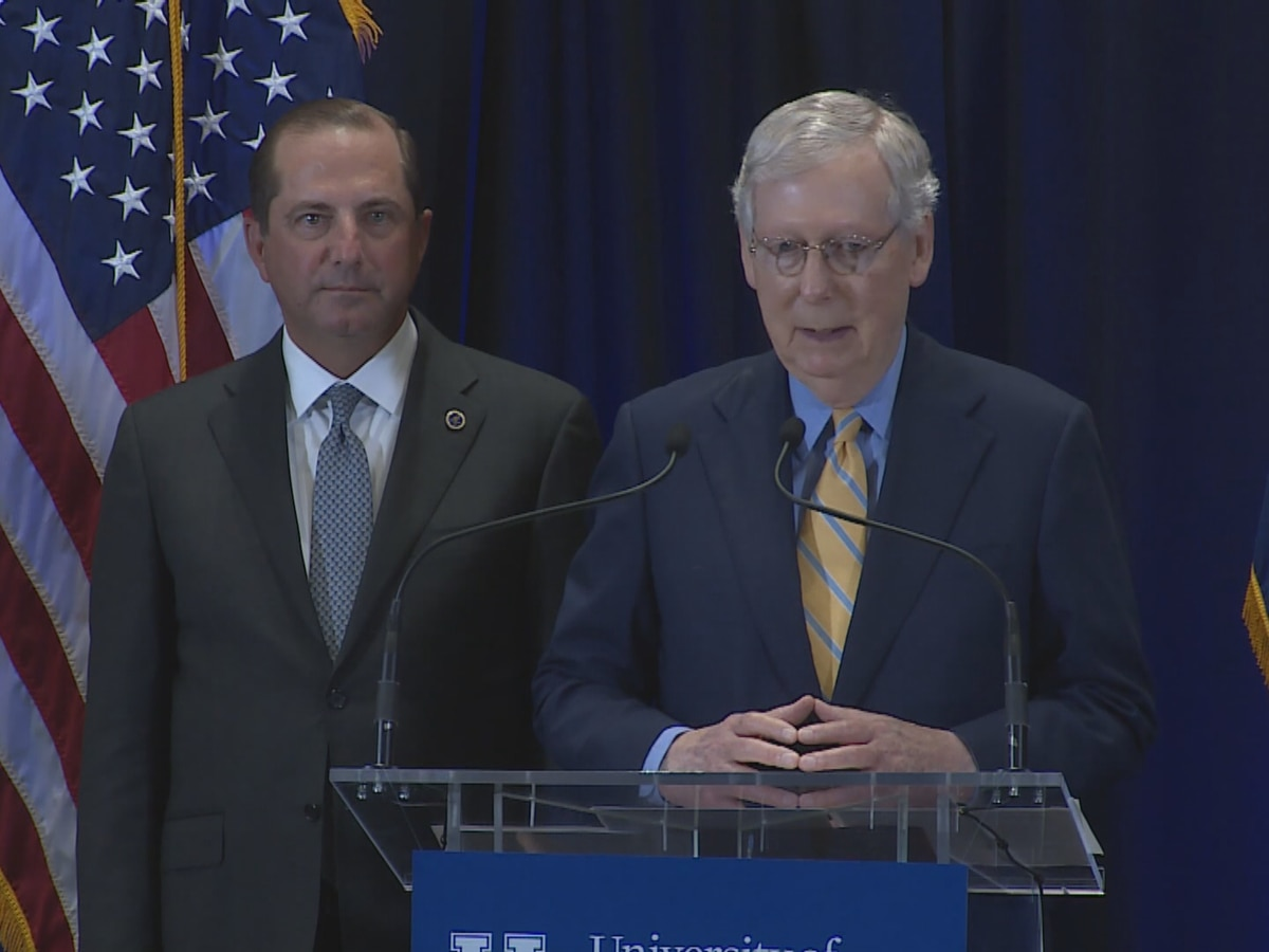 Sen. McConnell visits University of Kentucky after school receives $87 million grant