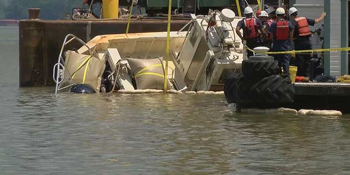 Louisville Fire boat recovered after sinking in Ohio River during storm