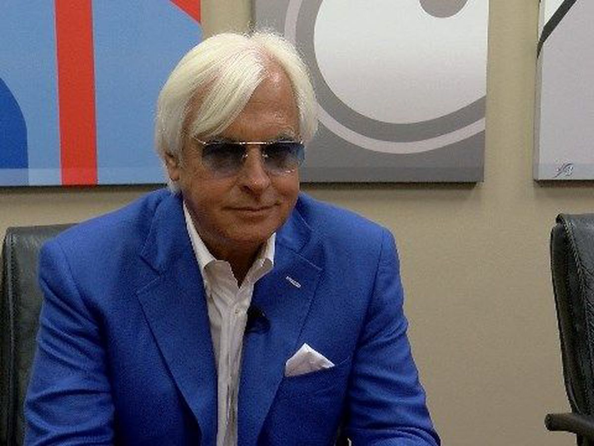 Trainer Bob Baffert enjoys a big day at Los Alamitos