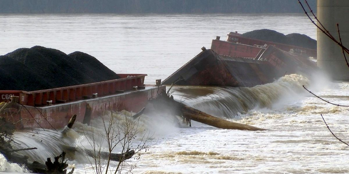 Cost determined to repair damage following barge collision