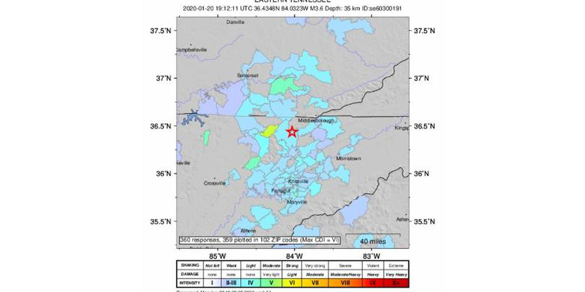3.8 magnitude earthquake felt in Southern Kentucky