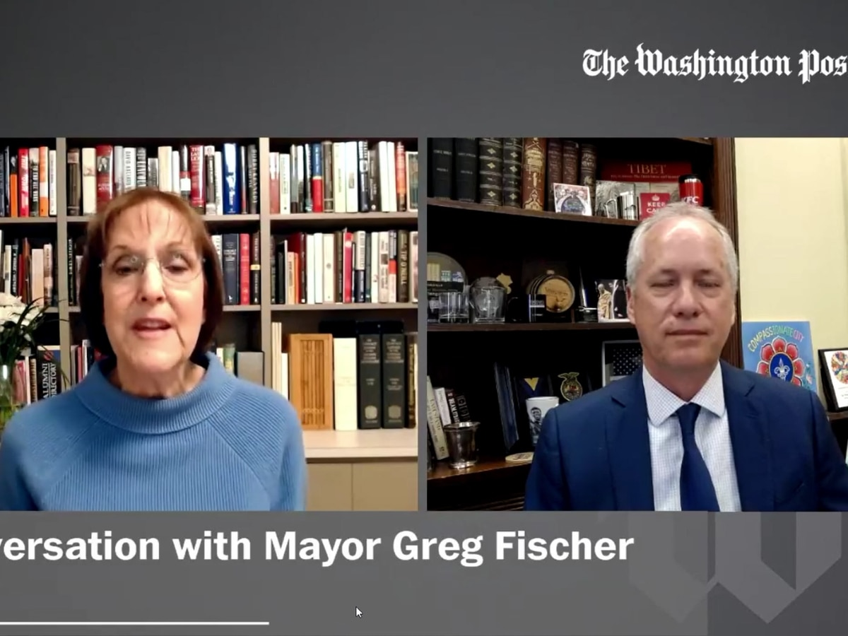 Mayor Fischer discusses infrastructure on Washington Post Live