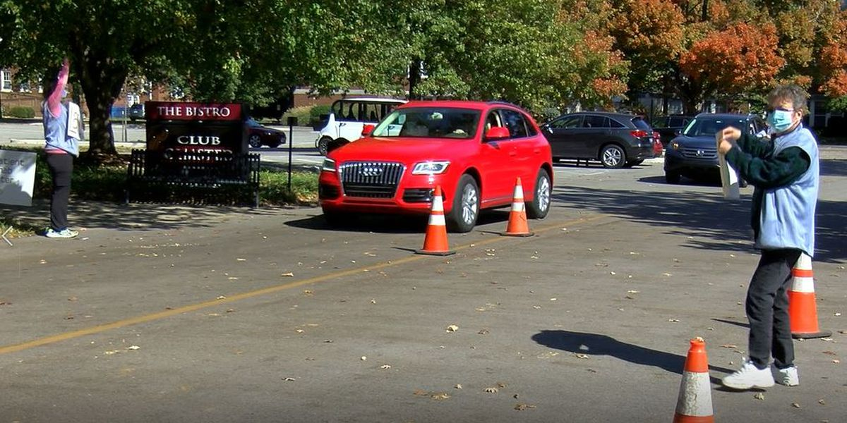 Volunteers recognized at drive-thru thank you party for helping seniors