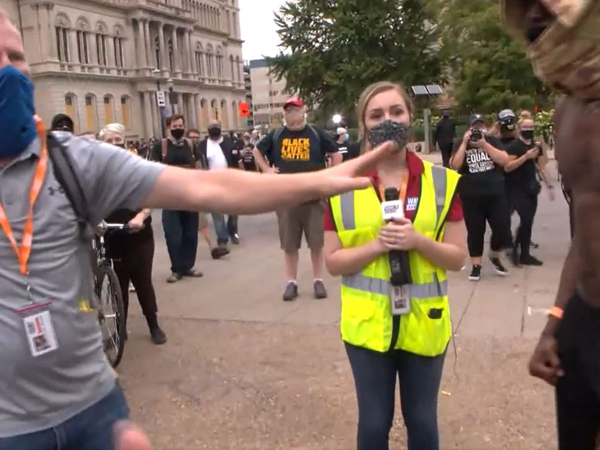 WAVE 3 News reporter, photographer confronted by protesters