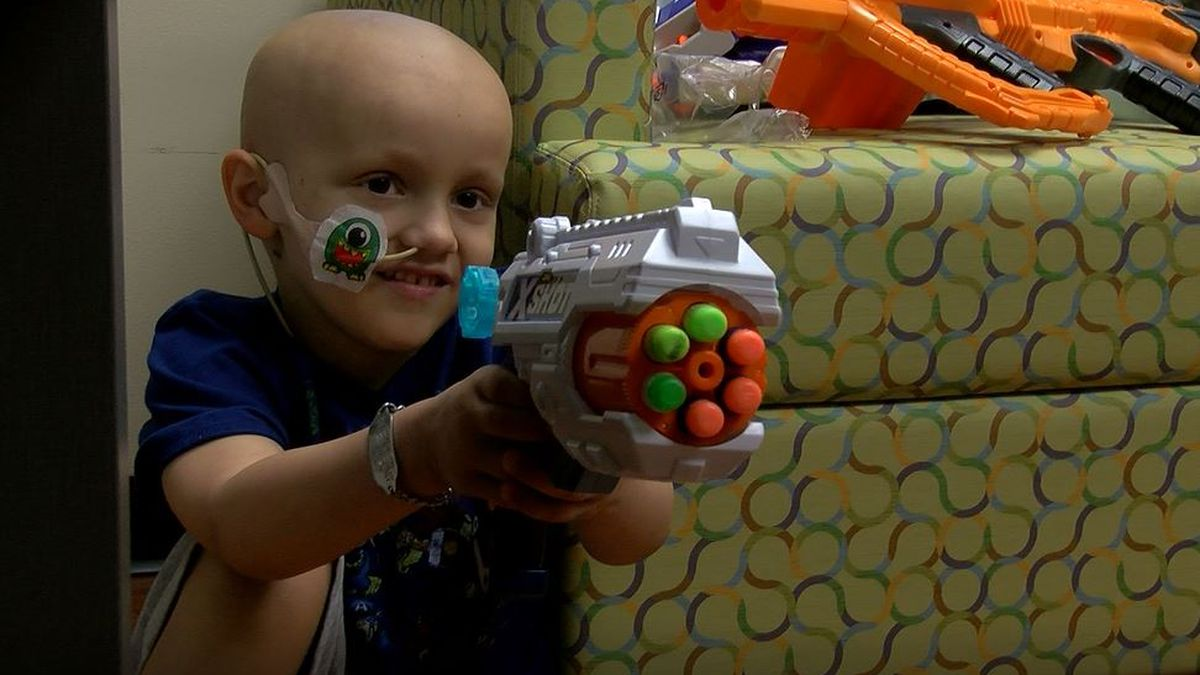 Nerf Wars: Norton Children's Hospital nurses suit up to keep young cancer patient smiling