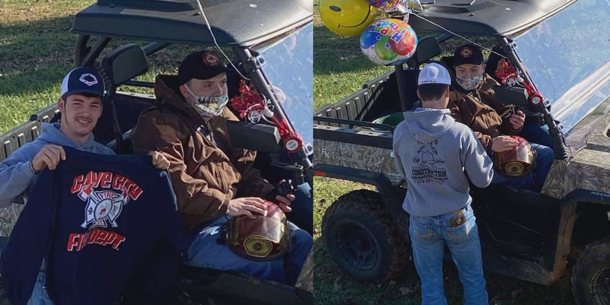 'He loves fire trucks': Barren Co. family celebrates autistic son's birthday with drive-by from first responders