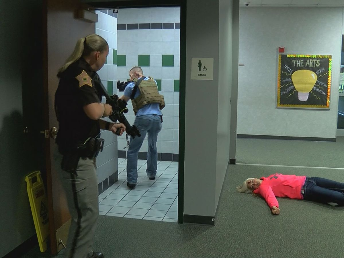 Emergency personnel train for active shooter situation