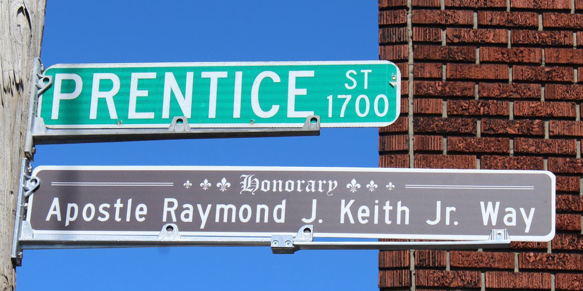 New street signs honor work and dedication of Apostle Raymond J. Keith Jr.
