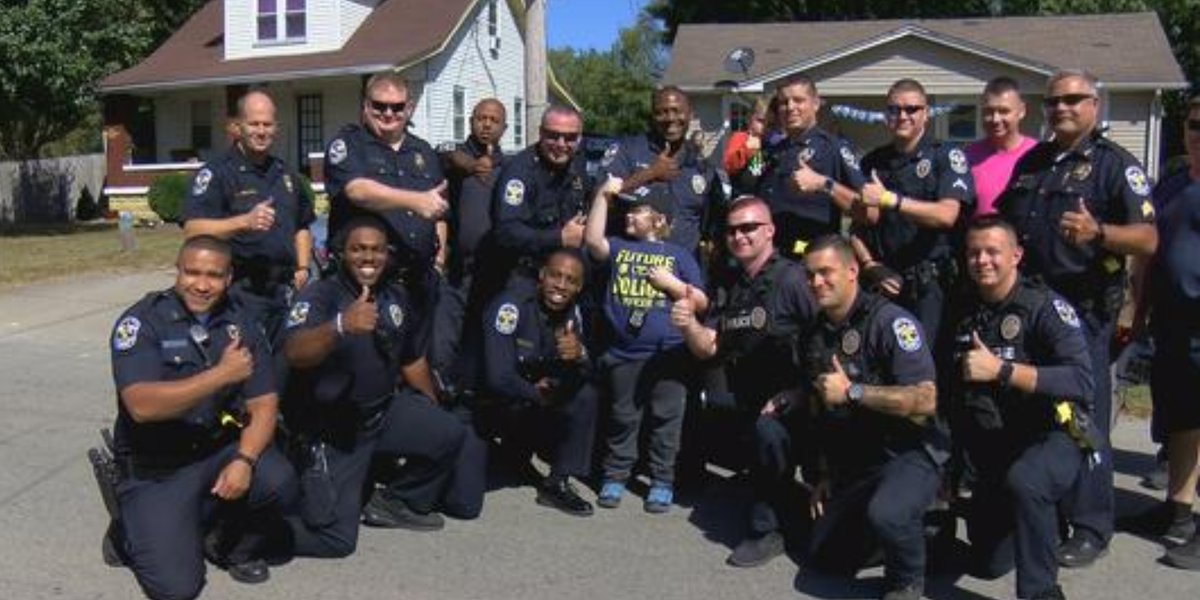Officers attend 9-year-old's birthday party