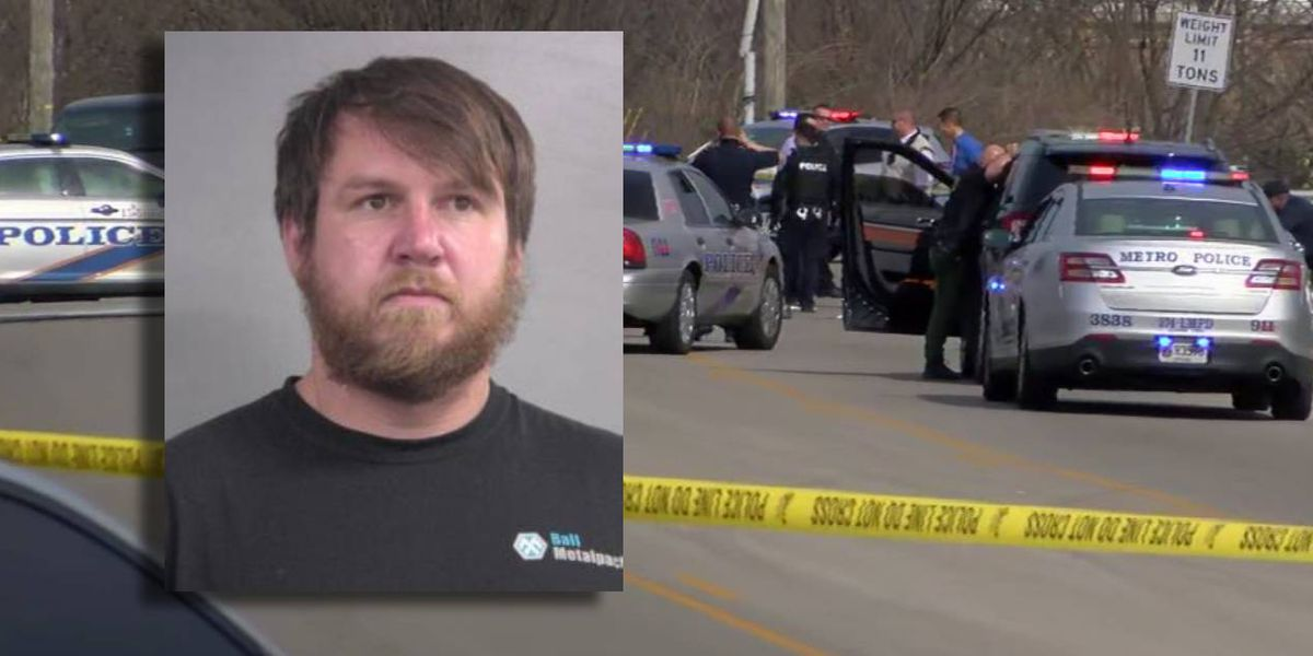 'Scared for our lives': LMPD officer shoots suspect after chase leaves several cars damaged