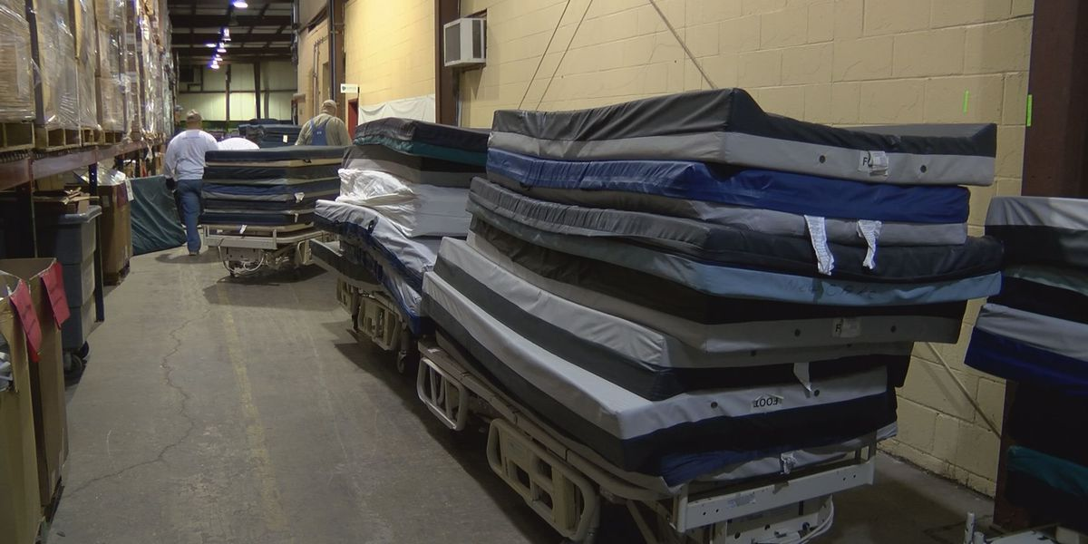Container full of beds shipped to Serbia