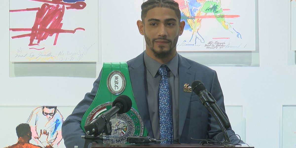 Louisville boxer announces plans to defend world title in hometown