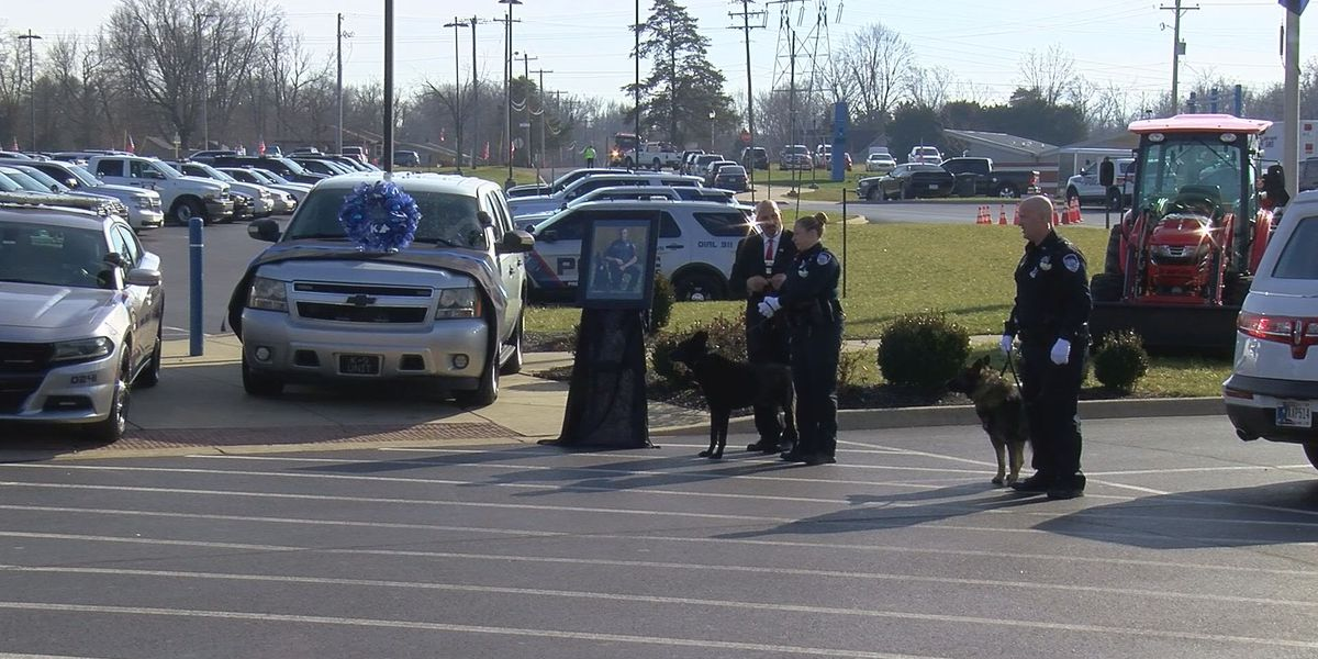 K-9 units from all over IN attend Charlestown officer's funeral