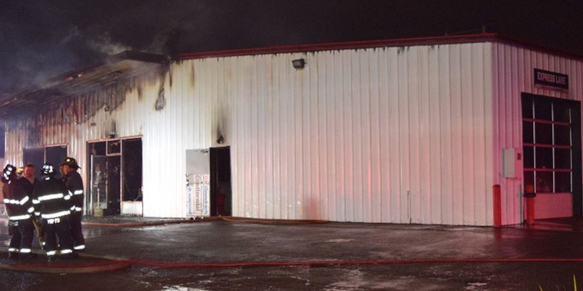 Arson investigation underway at Big-O Tires, police searching for stolen truck