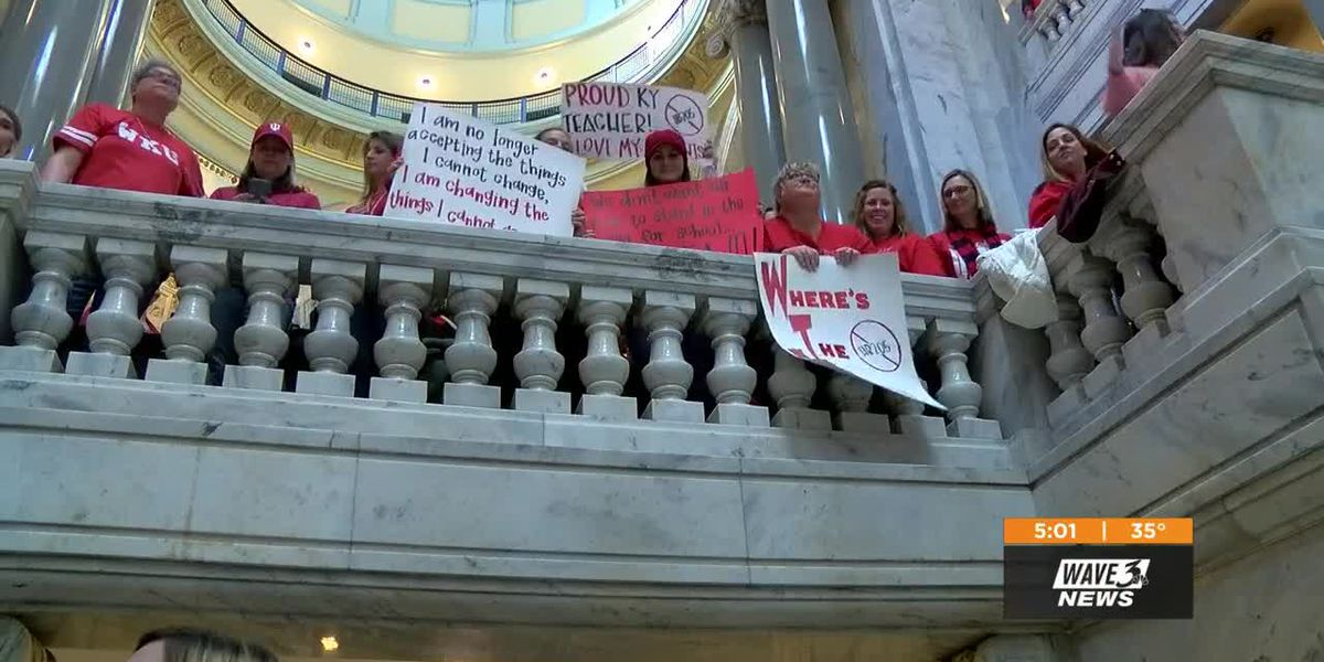 Protests focus on different bill, teachers remain watchful of past legislation