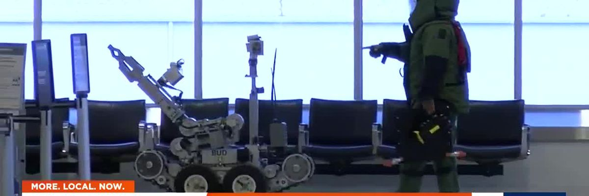 Scare at airport leads bomb squad to send in robot