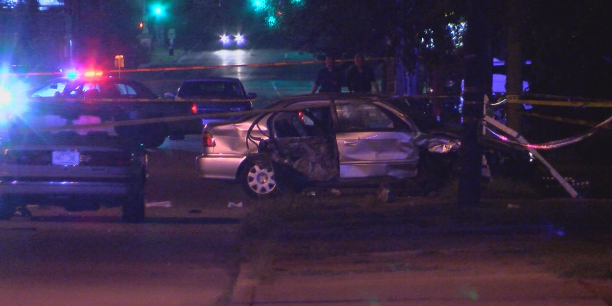 2 men dead, 2 others in critical condition after crash, shooting on New Cut Road