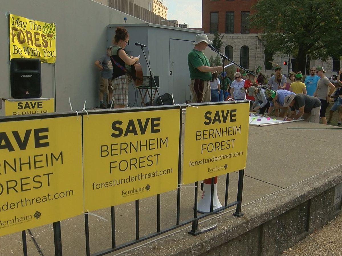 'Forest Under Threat' protesters march through Louisville