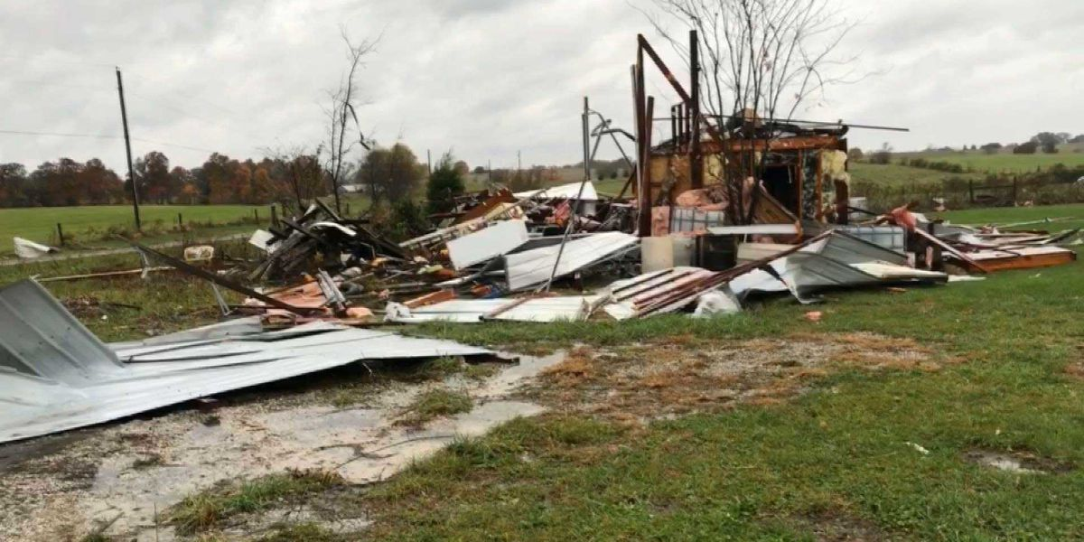 NWS confirms tornado caused Rineyville damage