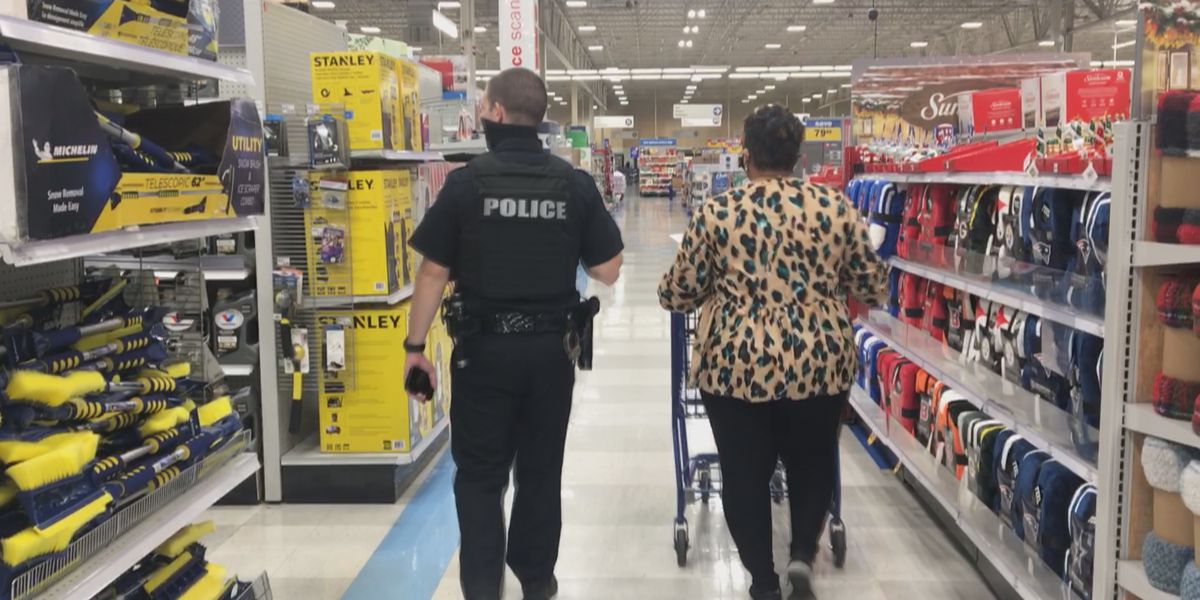 Teachers shop with a cop for area students