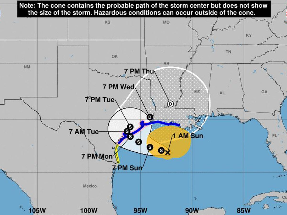 Tropical Storm Beta meandering toward Texas, Louisiana