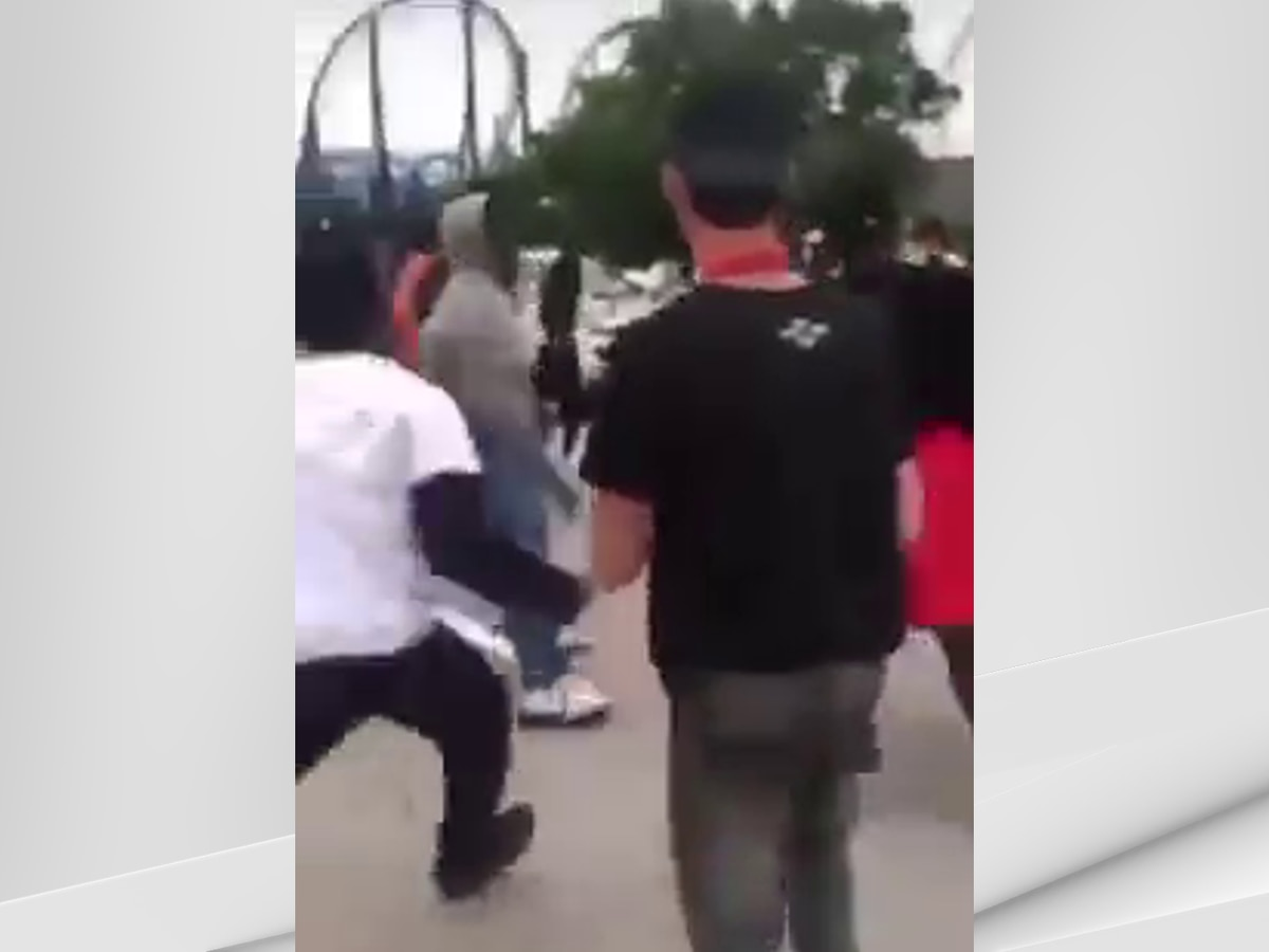 Fights breaking out in parking lot near Kentucky Kingdom prompts LMPD response