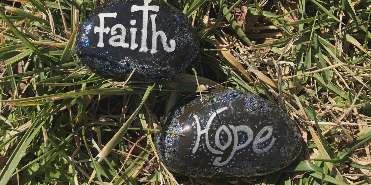 Nazareth Home residents paint 'scripture rocks' to interact with community